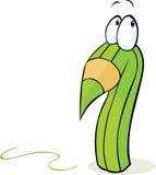 Gek groen potloodbeeldverhaal Royalty-vrije Stock Foto