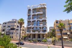 Gek Huis in Tel Aviv, Israël royalty-vrije stock foto
