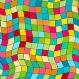Gek kleuren naadloos abstract patroon De zomerkleuren, moderne golf en mozaïektextuur De stijl van de Bohomanier voor drukken Vector Illustratie