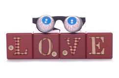 Gek in liefde royalty-vrije stock foto
