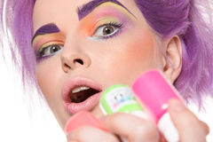 Gek, mooi, glamour, mannequin stock fotografie