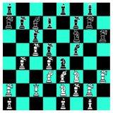 Gek Schaakbord Royalty-vrije Stock Afbeelding