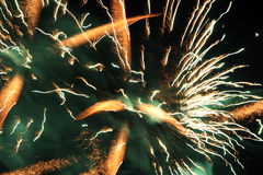 Gek vuurwerk Stock Foto's