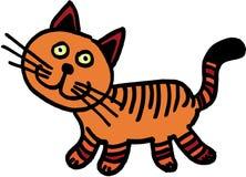 Gek weinig kat royalty-vrije illustratie