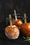 Gekarameliseerde appelen - Halloween desset De kaart van de herfst Met extra formaat Royalty-vrije Stock Foto's