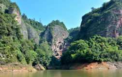 Gekenmerkte bergen in Taining, Fujian, China Stock Foto