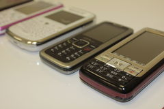 Gekenmerkte en Slimme Telefoons Stock Afbeeldingen