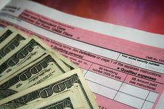 Gekennzeichnete Unkosten-Rückerstattung Lizenzfreie Stockfotos
