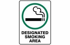 Gekennzeichneter Raucherzone-Symbol-Zeichen-Vektor lizenzfreie abbildung
