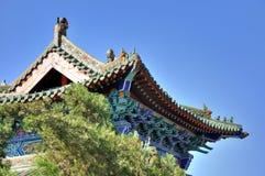 Gekennzeichnetes Dachgesims der chinesischen traditionellen Architektur Lizenzfreies Stockfoto