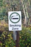 Gekennzeichnetes rauchendes Zeichen Stockfotografie