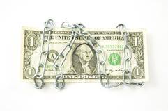 Geketende dollar Royalty-vrije Stock Foto