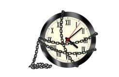 Geketende geïsoleerde klok stock illustratie
