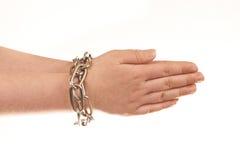 Geketende handen Royalty-vrije Stock Afbeelding
