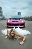 Gekke bruid Royalty-vrije Stock Foto's