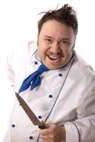 Gekke chef-kok royalty-vrije stock afbeelding
