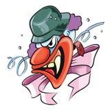 Gekke clown Royalty-vrije Stock Foto