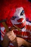 Gekke clown Royalty-vrije Stock Foto's