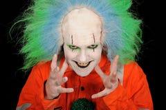 Gekke clown Royalty-vrije Stock Afbeeldingen