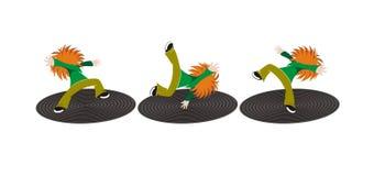 Gekke dansers stock illustratie