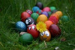Gekke eieren Royalty-vrije Stock Fotografie