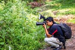 Gekke fotograaf stock foto