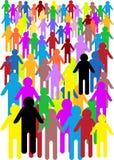 Gekke illustratie van menigte van mensen vector illustratie