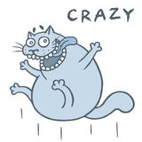 Gekke kattensprongen van geluk Vector illustratie stock illustratie