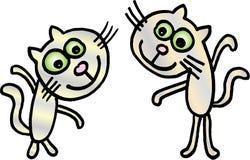 Gekke kleine katten Royalty-vrije Stock Foto