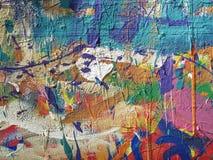 Gekke kleurrijke geschilderde achtergrond Royalty-vrije Stock Afbeeldingen
