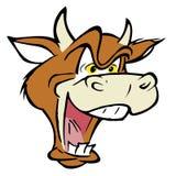 Gekke koe Royalty-vrije Stock Afbeeldingen