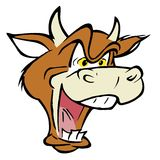 Gekke koe stock illustratie