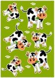 Gekke koeien vector illustratie