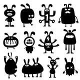 Gekke konijnen set01 Stock Afbeeldingen