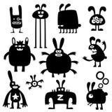 Gekke konijnen set03 vector illustratie