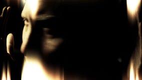Gekke krankzinnige schizofreniepsychopaat en de geestelijke samenvatting van de gezondheidswanorde stock videobeelden