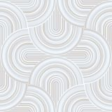 Gekke krommen - verward geometrisch patroon met bleke pastelkleur witte kleuren vector illustratie