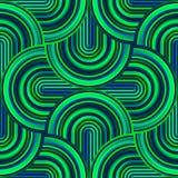 Gekke krommen - verward geometrisch patroon met heldergroene kleuren vector illustratie