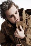 Gekke mens in geheim Stock Fotografie