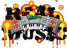 Gekke muziek - echte muziek Stock Afbeelding