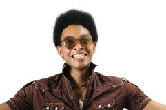 Gekke retro afro Stock Foto