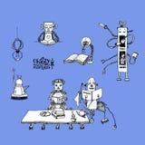 Gekke robots bibliotheek Royalty-vrije Stock Foto's