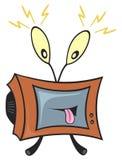 Gekke televisie Stock Foto's