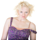Gekke Vrouw met weg Riem Royalty-vrije Stock Afbeelding
