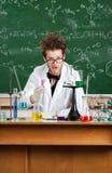 Gekke wetenschapper Stock Afbeelding