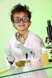 Gekke Wetenschapper in Slijm stock afbeeldingen