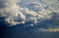 Gekke wolken Royalty-vrije Stock Foto's