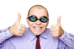 Gekke zakenman Stock Afbeeldingen