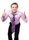 Gekke zakenman Stock Foto's