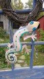 Gekko Decoration on a farm. Charming barn in Ohio royalty free stock image